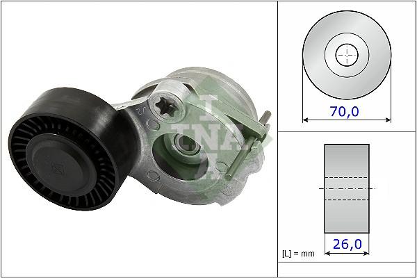Tendeur de courroie d'accessoires INA 534 0470 10 (X1)