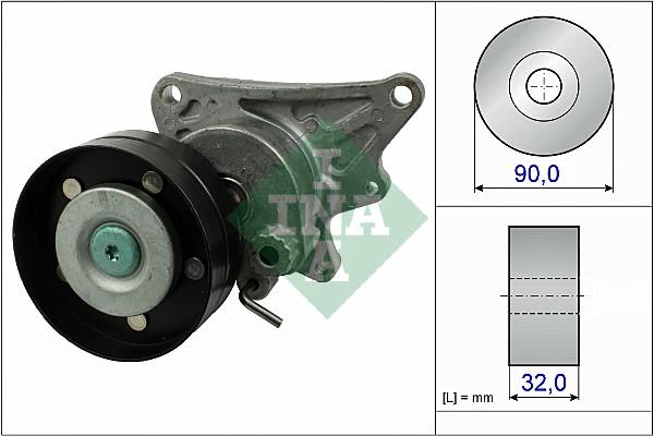 Tendeur de courroie d'accessoires INA 534 0473 10 (X1)