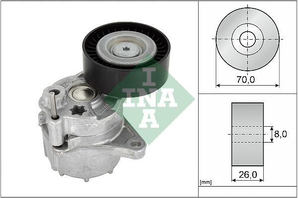 Tendeur de courroie d'accessoires INA 534 0481 10 (X1)
