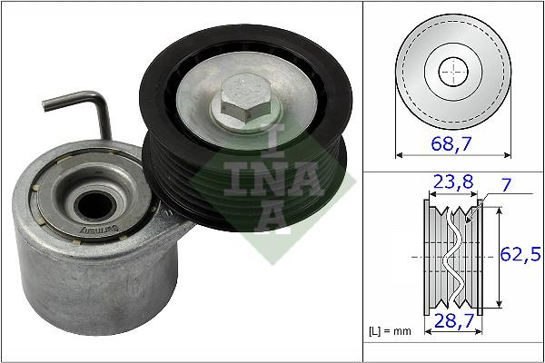 Tendeur de courroie d'accessoires INA 534 0487 10 (X1)