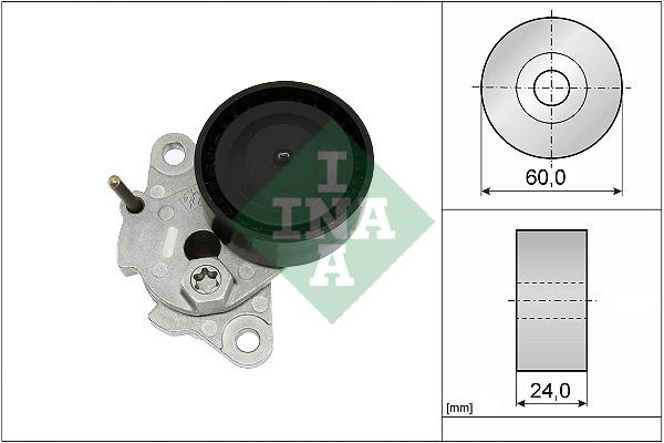 Tendeur de courroie d'accessoires INA 534 0510 10 (X1)