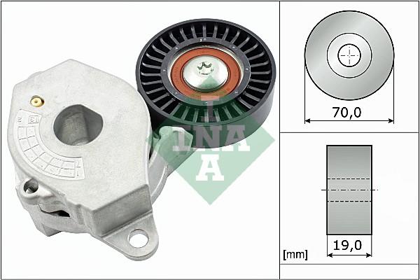 Tendeur de courroie d'accessoires INA 534 0545 10 (X1)