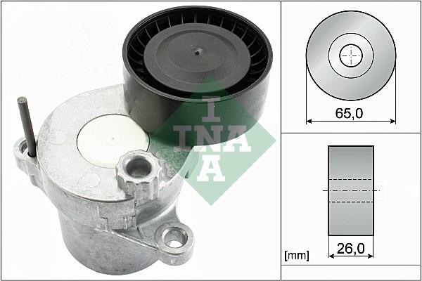 Tendeur de courroie d'accessoires INA 534 0549 10 (X1)