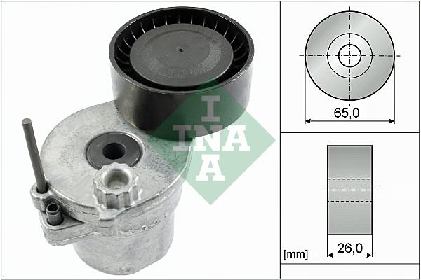 Tendeur de courroie d'accessoires INA 534 0570 10 (X1)