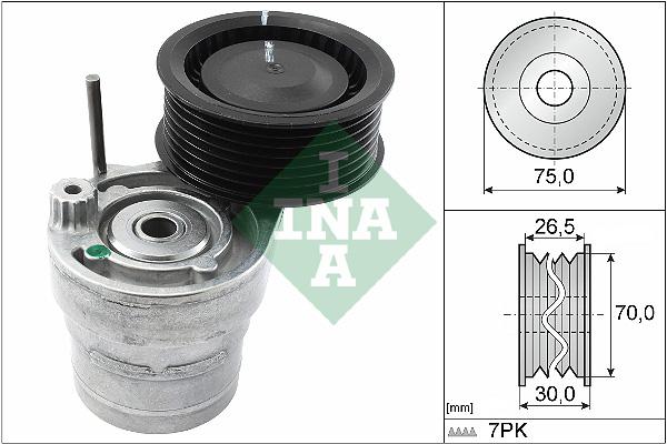 Tendeur de courroie d'accessoires INA 534 0603 10 (X1)