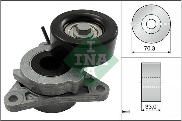 Tendeur de courroie d'accessoires INA 534 0606 10 (X1)