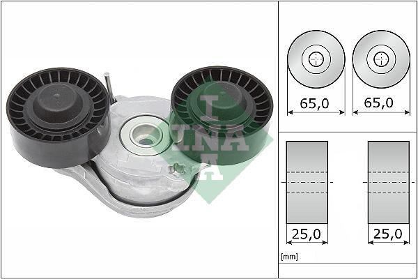 Tendeur de courroie d'accessoires INA 534 0696 10 (X1)