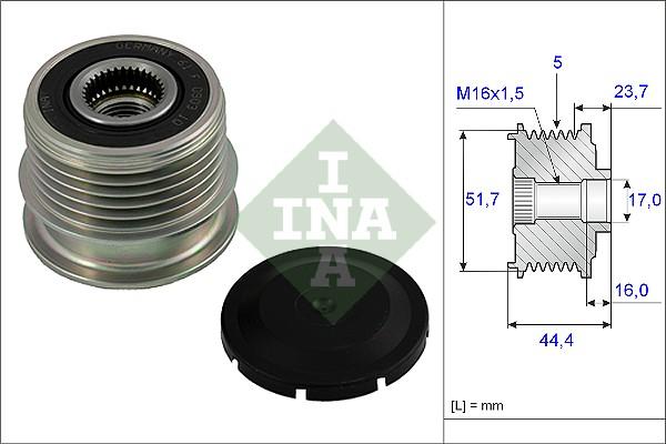 Poulie d'alternateur INA 535 0020 10 (X1)
