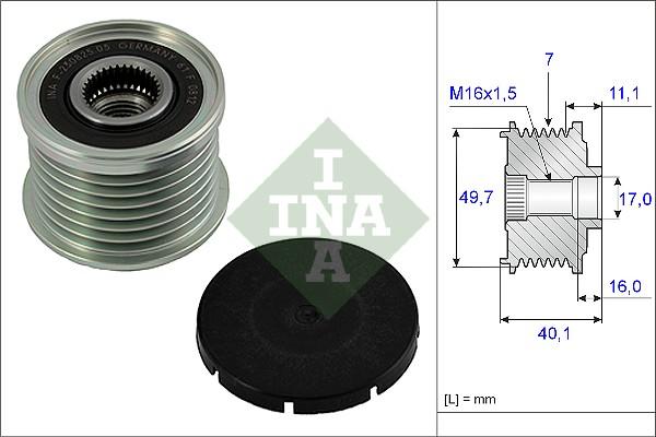 Poulie d'alternateur INA 535 0021 10 (X1)