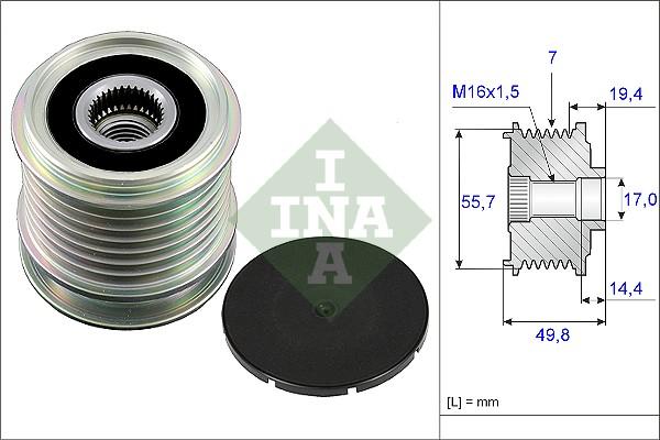 Poulie d'alternateur INA 535 0165 10 (X1)
