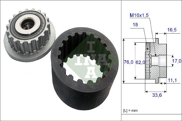 Manchon d'accouplement INA 535 0186 10 (X1)