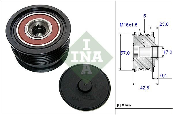 Poulie d'alternateur INA 535 0190 10 (X1)