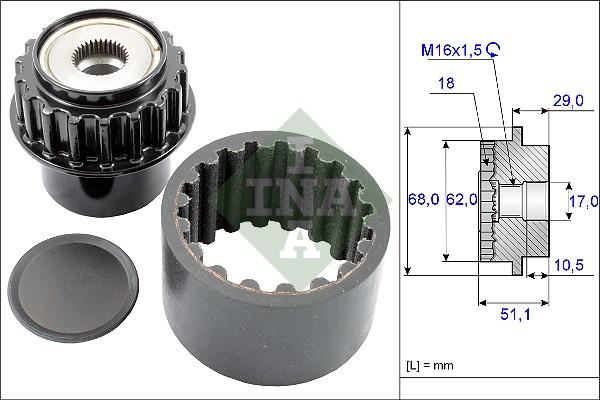 Manchon d'accouplement INA 535 0206 10 (X1)