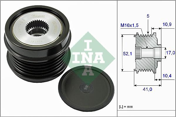 Poulie d'alternateur INA 535 0272 10 (X1)