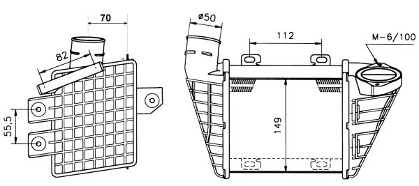 Intercooler radiateur de turbo NRF 30023 (X1)