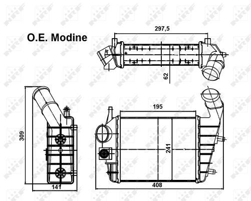 Intercooler radiateur de turbo NRF 30123 (X1)