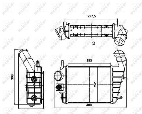 Intercooler radiateur de turbo NRF 30123A (X1)