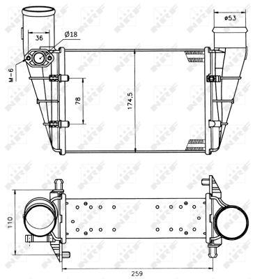 Intercooler radiateur de turbo NRF 30127A (X1)
