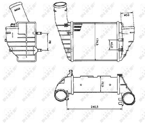 Intercooler radiateur de turbo NRF 30131 (X1)