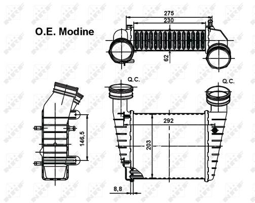 Intercooler radiateur de turbo NRF 30138 (X1)