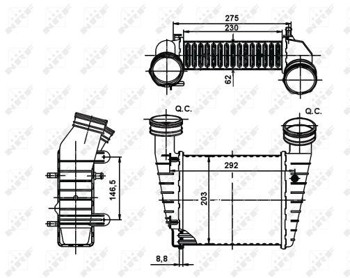Intercooler radiateur de turbo NRF 30138A (X1)