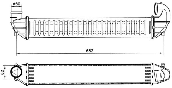 Intercooler radiateur de turbo NRF 30139 (X1)