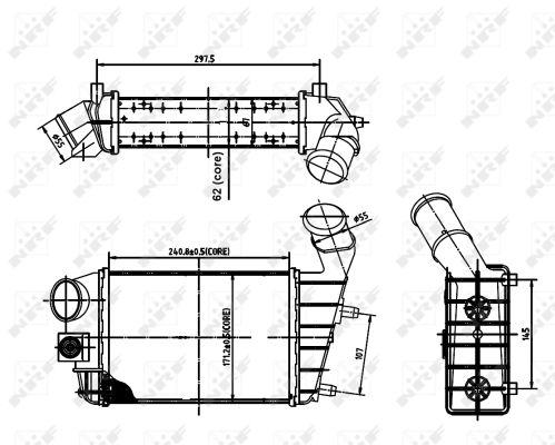 Intercooler radiateur de turbo NRF 30142A (X1)