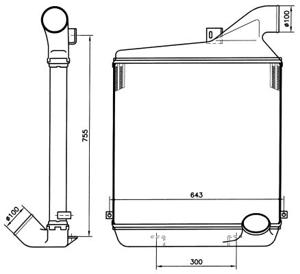 Intercooler radiateur de turbo NRF 30146 (X1)