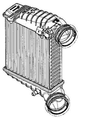 Intercooler radiateur de turbo NRF 30147 (X1)