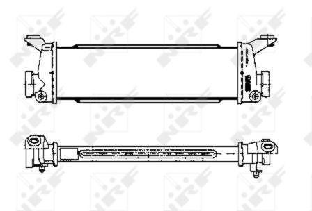 Intercooler radiateur de turbo NRF 30151 (X1)