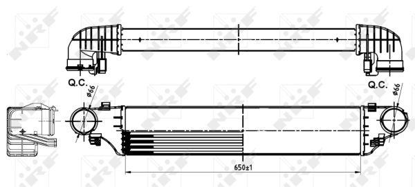 Intercooler radiateur de turbo NRF 30164A (X1)
