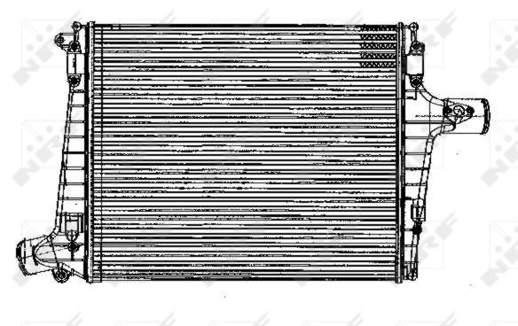 Intercooler radiateur de turbo NRF 30170 (X1)