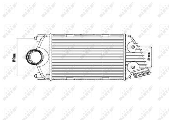 Intercooler radiateur de turbo NRF 30186 (X1)