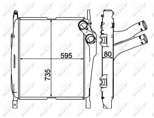 Intercooler radiateur de turbo NRF 30188 (X1)