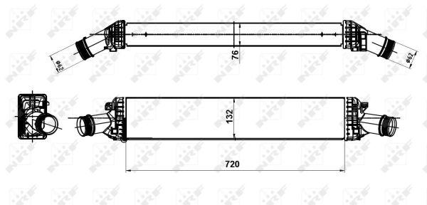 Intercooler radiateur de turbo NRF 30189 (X1)