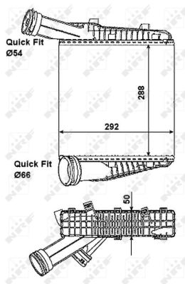 Intercooler radiateur de turbo NRF 30198 (X1)