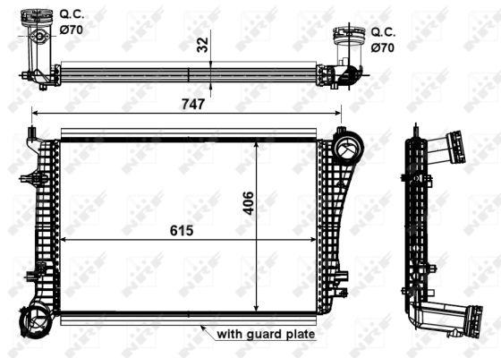 Intercooler radiateur de turbo NRF 30199 (X1)