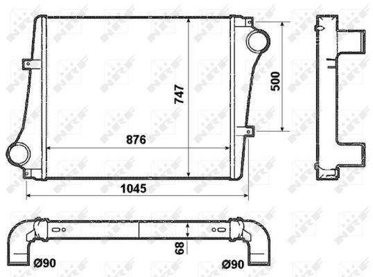 Intercooler radiateur de turbo NRF 30232 (X1)