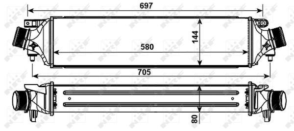Intercooler radiateur de turbo NRF 30235 (X1)