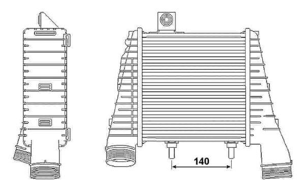 Intercooler radiateur de turbo NRF 30237 (X1)