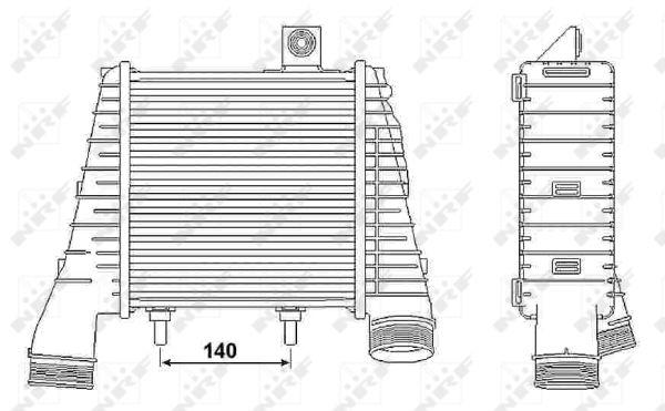 Intercooler radiateur de turbo NRF 30238 (X1)