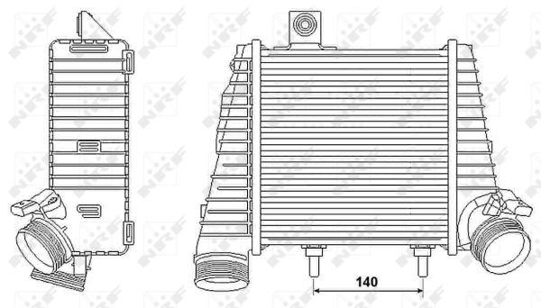 Intercooler radiateur de turbo NRF 30239 (X1)