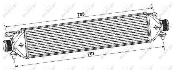 Intercooler radiateur de turbo NRF 30240 (X1)