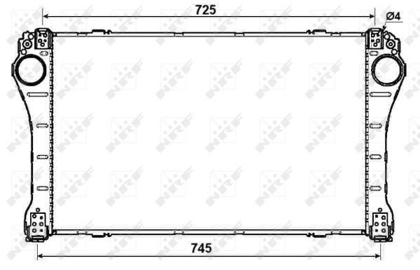 Intercooler radiateur de turbo NRF 30243 (X1)