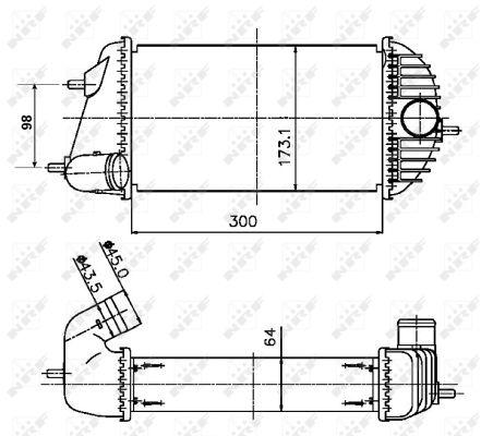 Intercooler radiateur de turbo NRF 30246 (X1)