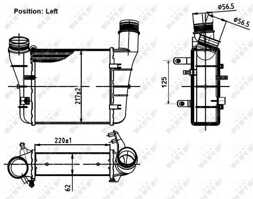 Intercooler radiateur de turbo NRF 30251 (X1)
