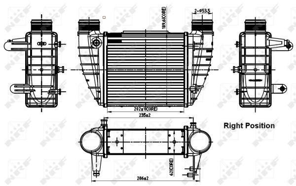 Intercooler radiateur de turbo NRF 30252 (X1)