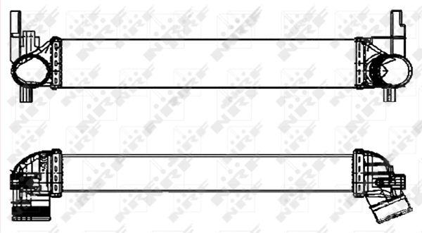 Intercooler radiateur de turbo NRF 30253 (X1)