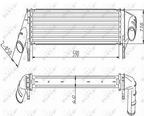 Intercooler radiateur de turbo NRF 30255 (X1)