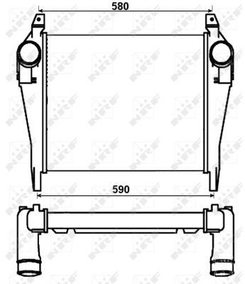 Intercooler radiateur de turbo NRF 30264 (X1)